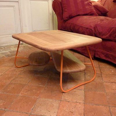 table basse acier chêne bois metal (2)