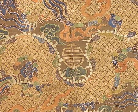 A_Tibetan_chuba_of_Chinese_brocade_silk_with_fur_trim3