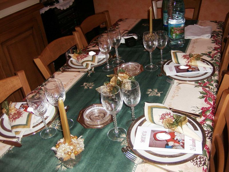 Table noel photo de art de la table recettes et d coration - Art de la table decoration ...