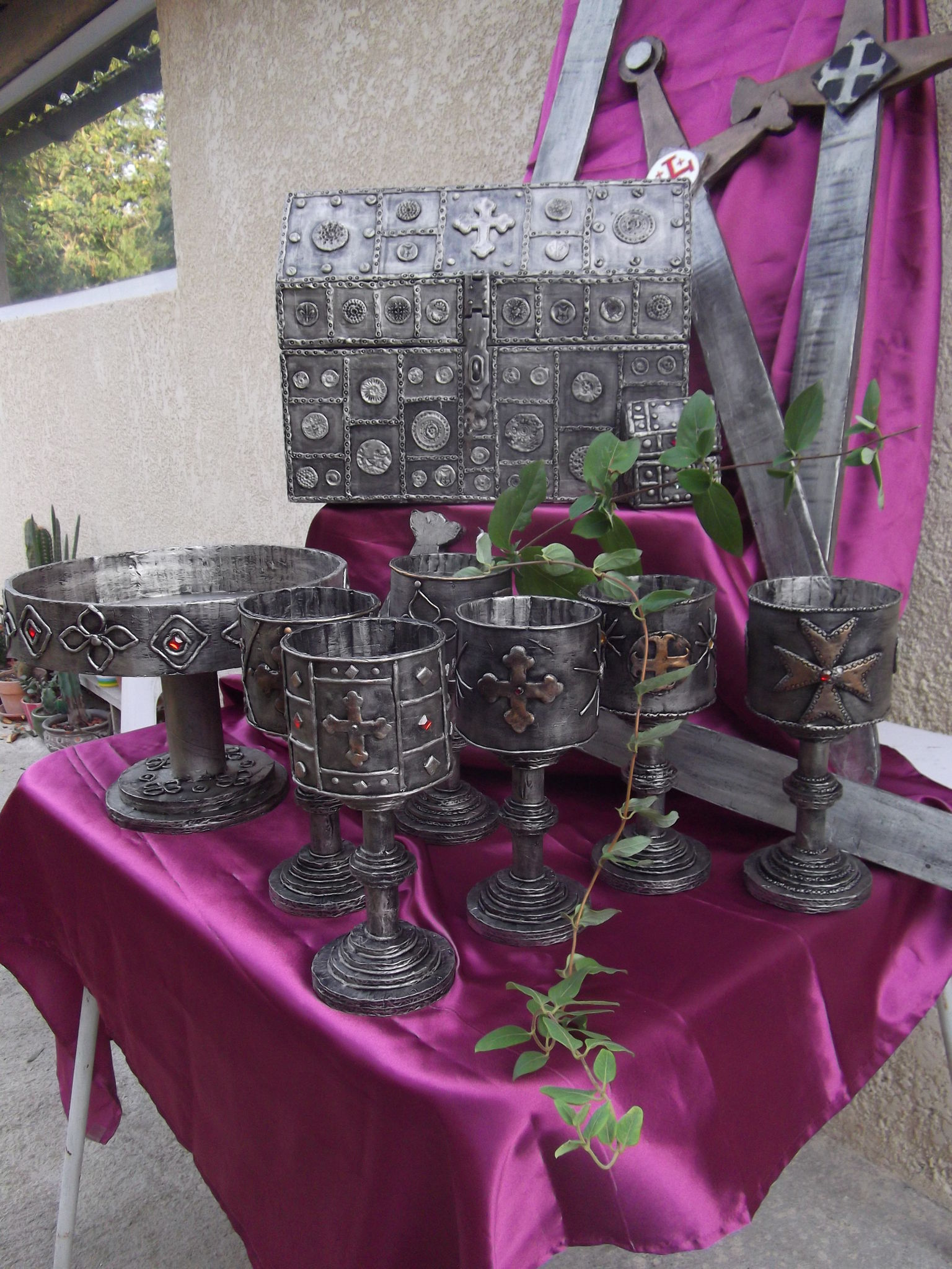 decoration table mariage medieval