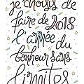 Bonne année 2018, ou ces bonnes résolutions que je ne tiendrais (peut-être ) pas