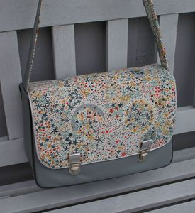 samcartable simili gris clair Liberty Adelajda