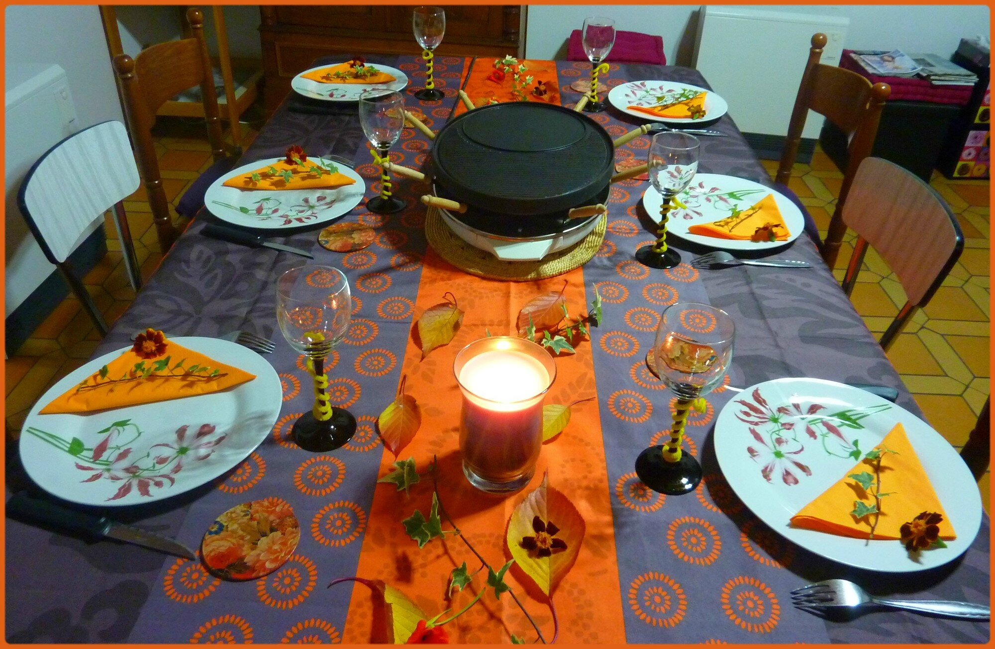 Table raclette et automnale miss gleni and co - La table a raclette ...