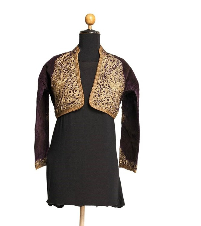Gold Embroidered Short Velvet Jacket, Ottoman Empire, 19th century