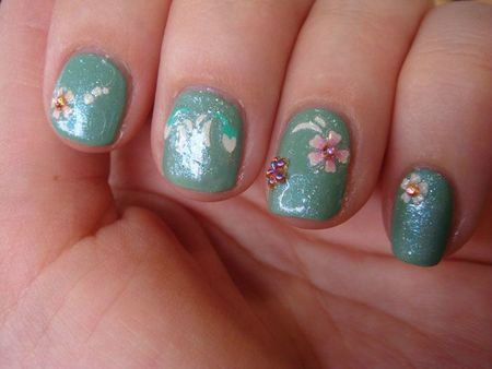 Nail art avec Mermaids Tears de O