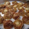 Tartelettes oignons/chèvre