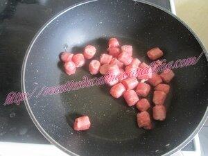 Chipolatas grillées sur lit de pâtes et julienne de légumes03