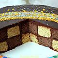 Gâteau damier, sans moule spécial