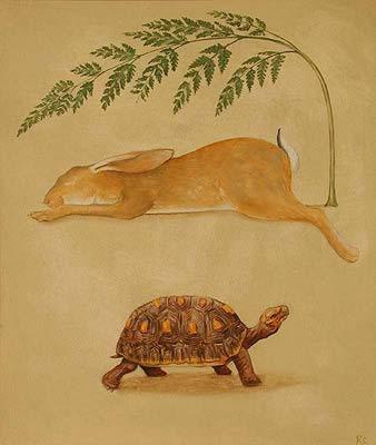 Le lievre et la tortue de Rebecca Campbell