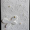 carte de voeux en quasi monochrome blanc