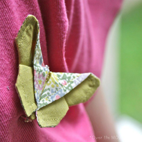 Broche origamibutter clarricoates pastel