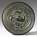A bronze 'mythical beasts' mirror, sui dynasty
