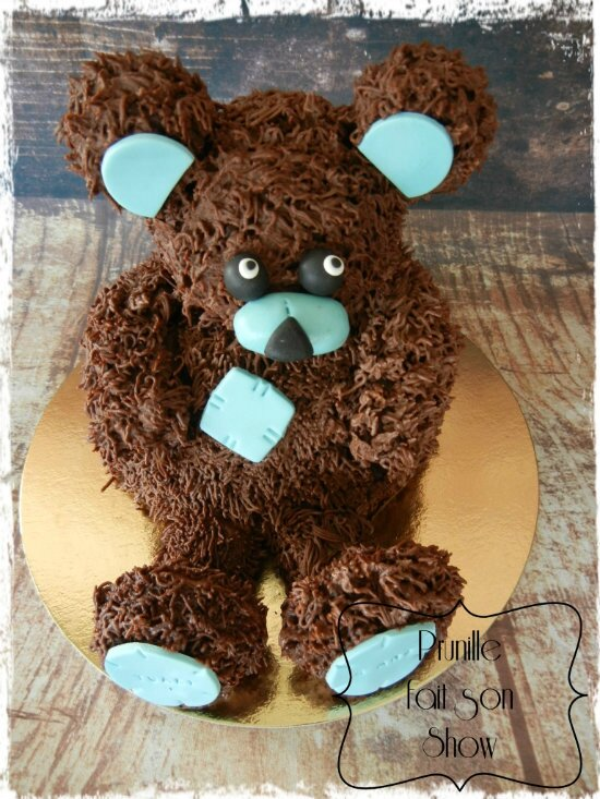gateau ourson 3D assis prunillefee 2