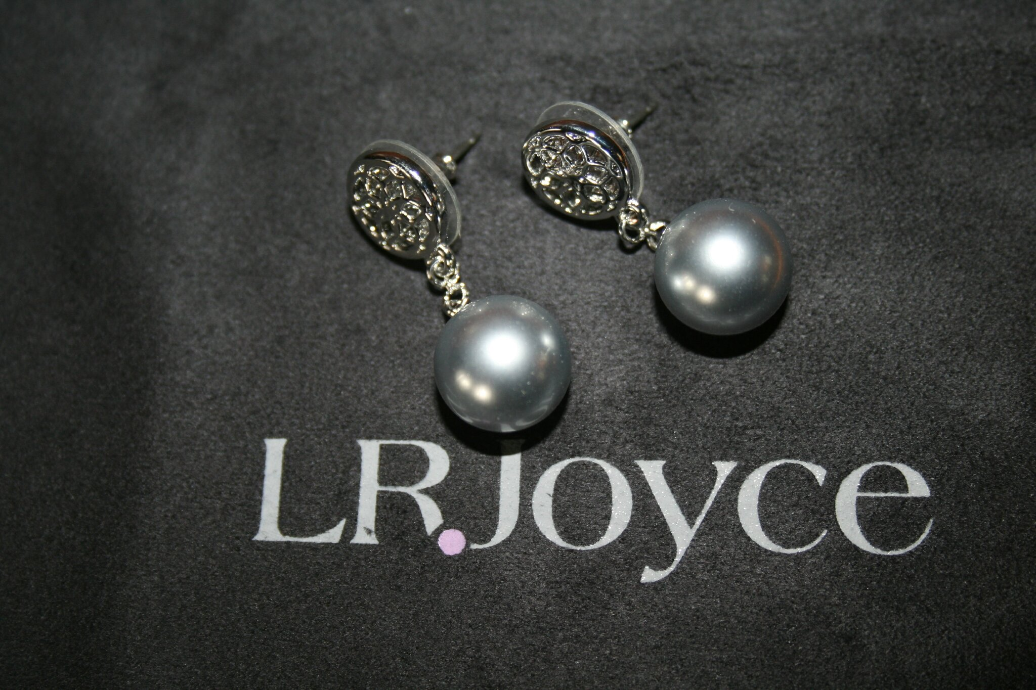 boucles Lovely Pearls grises