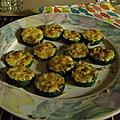 Entrée: zucchinis gratinés