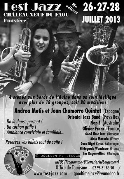 Publicité pour le Fest Jazz 2013