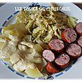 Saucisses au chou à la vapeur de vermouth (thermomix)