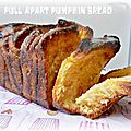{pull-apart pumpkin and cinnamon bread} Brioche  effeuiller  la citrouille et  la canelle 