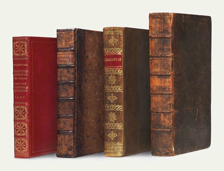 Christie's London to offer the first four folios of William Shakespeare's collected works