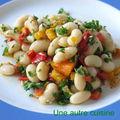 Haricots blancs frais (mojettes) en salade