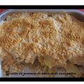 Gratin de pommes de terre et courgettes au curry