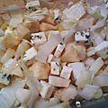 Salade d'endives automnale au carré d'aurillac
