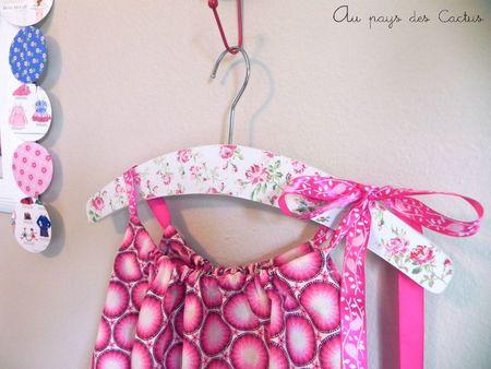 Robe bretelles rubans rose Au pays des Cactus 3