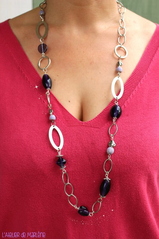 collier violet Aurélie