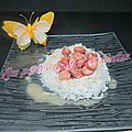 Riz aux knakis et lardons