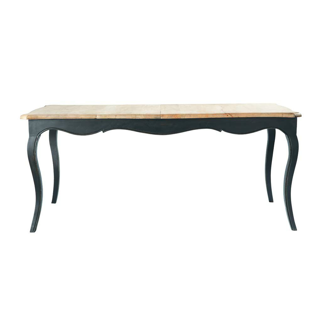 Esprit chic pour table en ch ne 1 air 2 d co for Table a diner industrielle