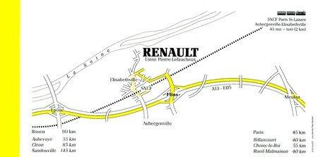 © 1990 François-Noël TISSOT Une Identité Pour Demain ® Aubergenville RENAULT Flins Orientation des Visiteurs vers le site