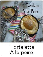 tartelette a la poire weight watchers