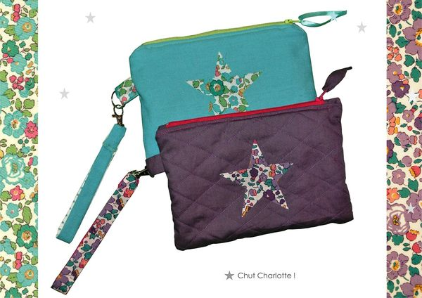 Pochettes Liberty turquoise et aubergine (2)