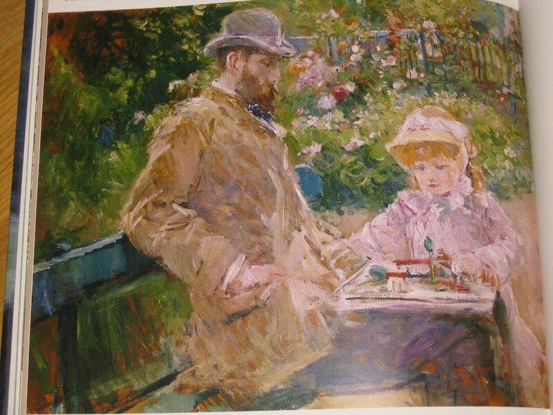 Eugène Manet et sa fille - Berthe Morisot