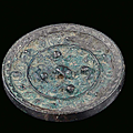 A silver-plated bronze mirror, china, han dynasty, 2nd century
