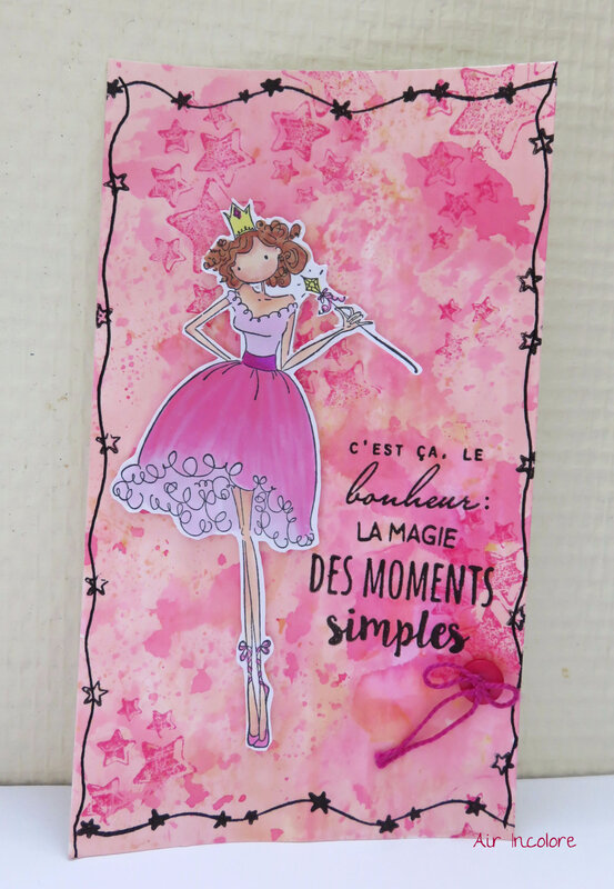 Carte Girly fairy pink #StamoingBella