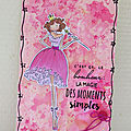 Carte Girly fairy pink #StampingBella