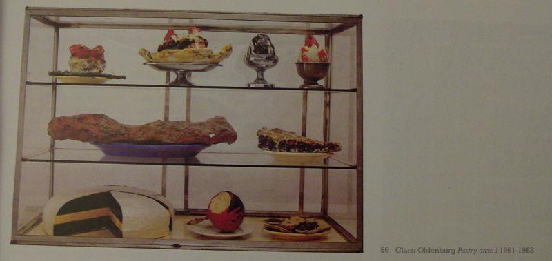 Claes Oldenburg, Pastry case I, 196162