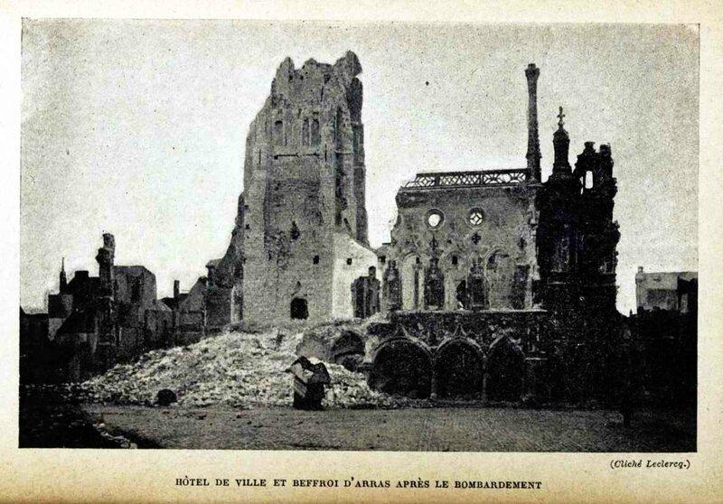 Arras bombardé