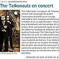 La dépêche 29/03/2012 : the taikonauts en concert