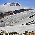 Accès périlleux au col et au glacier de l'arcelin,par le cirque du dard (vanoise/tarentaise/savoie)