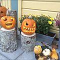 Courges d'halloween et recette de graines de courge grillées