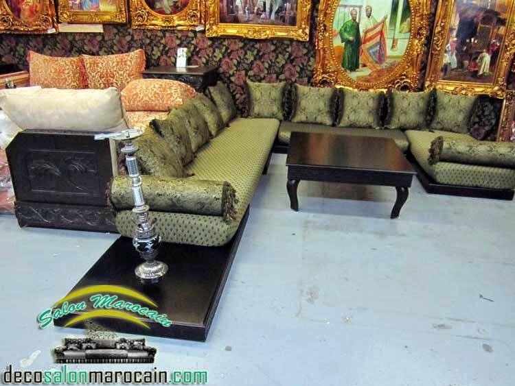 Salon marocain tendance traditionnel salon marocain moderne for Salon traditionnel marocain vert