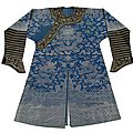 Chinese blue gauze 'dragon' robe, 19th century