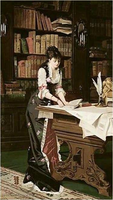 In the library de Juana Romani