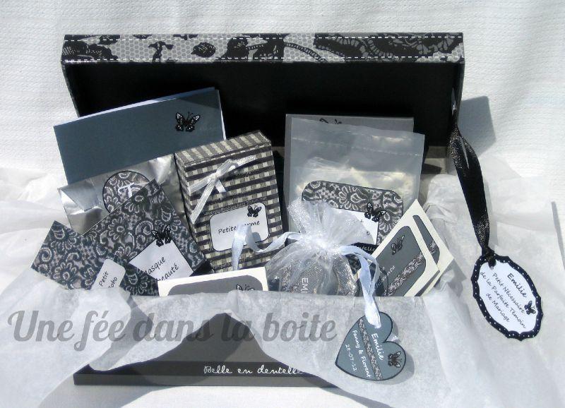 papillon et dentelle pour une jolie boite t moin une f e dans la boite. Black Bedroom Furniture Sets. Home Design Ideas