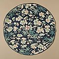 Roundel with prunus and bamboo, china, late qing dynasty, circa 1800-1911