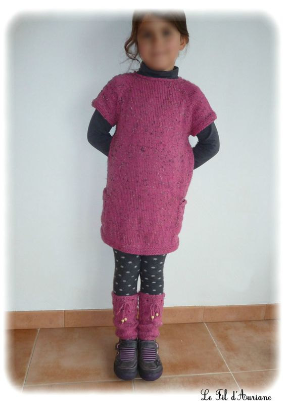 tuto tricot robe fille 8 ans