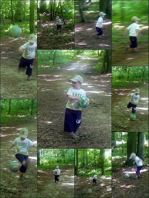 Arthur et son ballon - mai 09