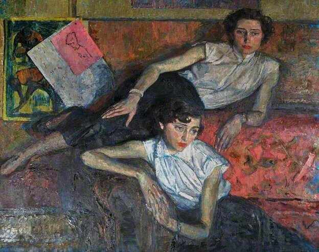 1 Thomas Roland Rathmell (British artist, 1912–1990) The Sisters, 1953 Aberystwyth University Art Collection